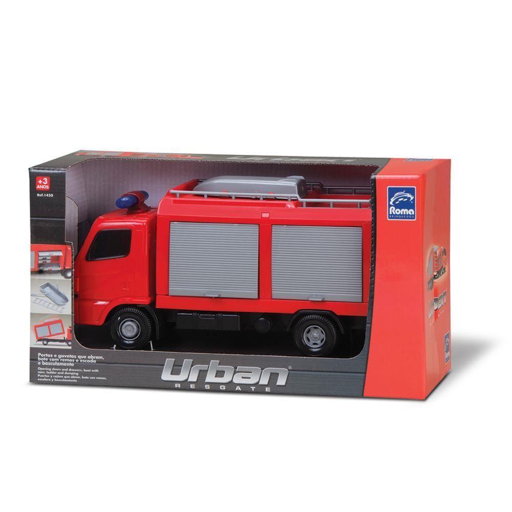 Caminhão De Bombeiro Urban Resgate Roma Brinquedos