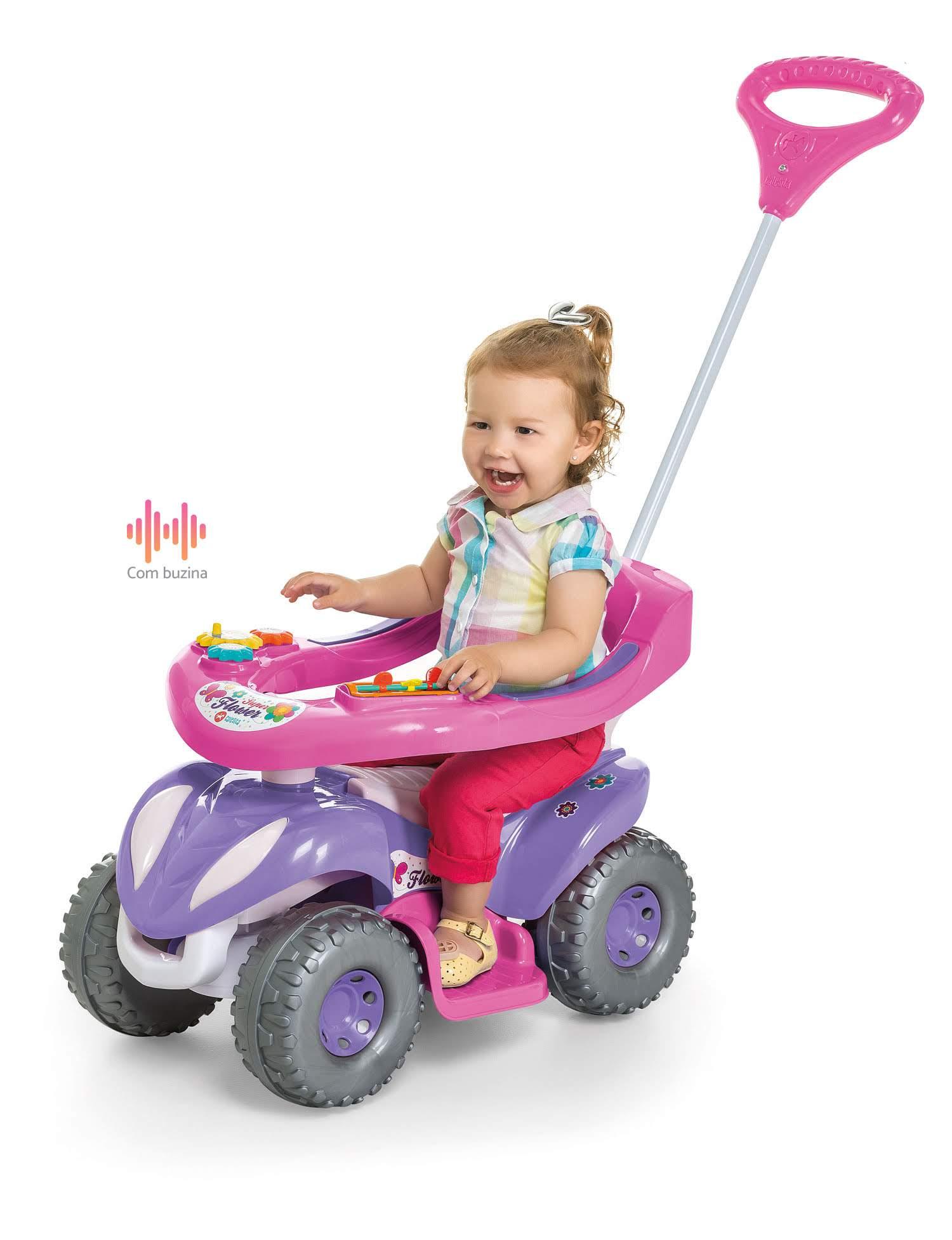 Carrinho De Passeio Flower Quadriciclo Infantil Calesita