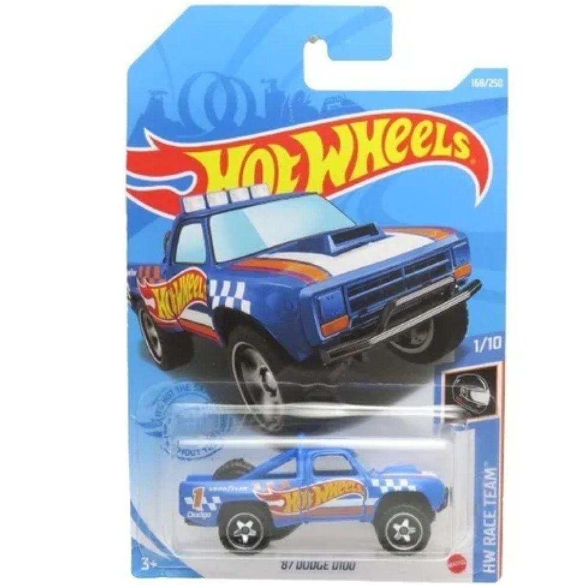 Carrinho Hot Wheels 87 Dodge D100 168/250