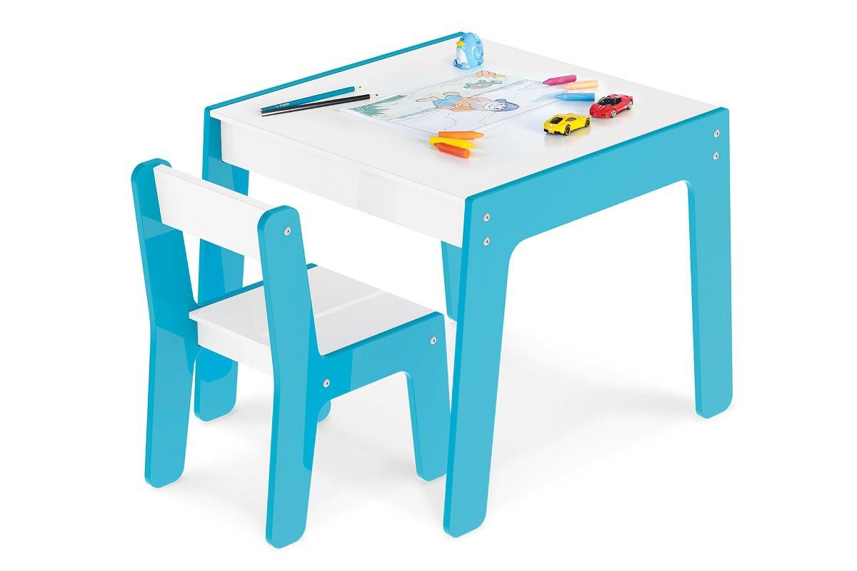 Conjunto De Mesa De Atividade Com Cadeira Infantil Azul :991