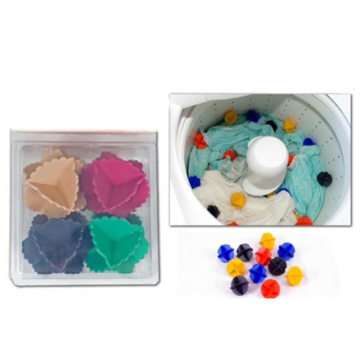 Esferas Bolinhas Bate Roupas 4 Peças Para Lavar Roupas