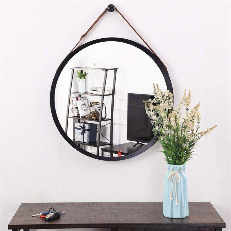 Espelho Redondo Decorativo com Moldura 60cm