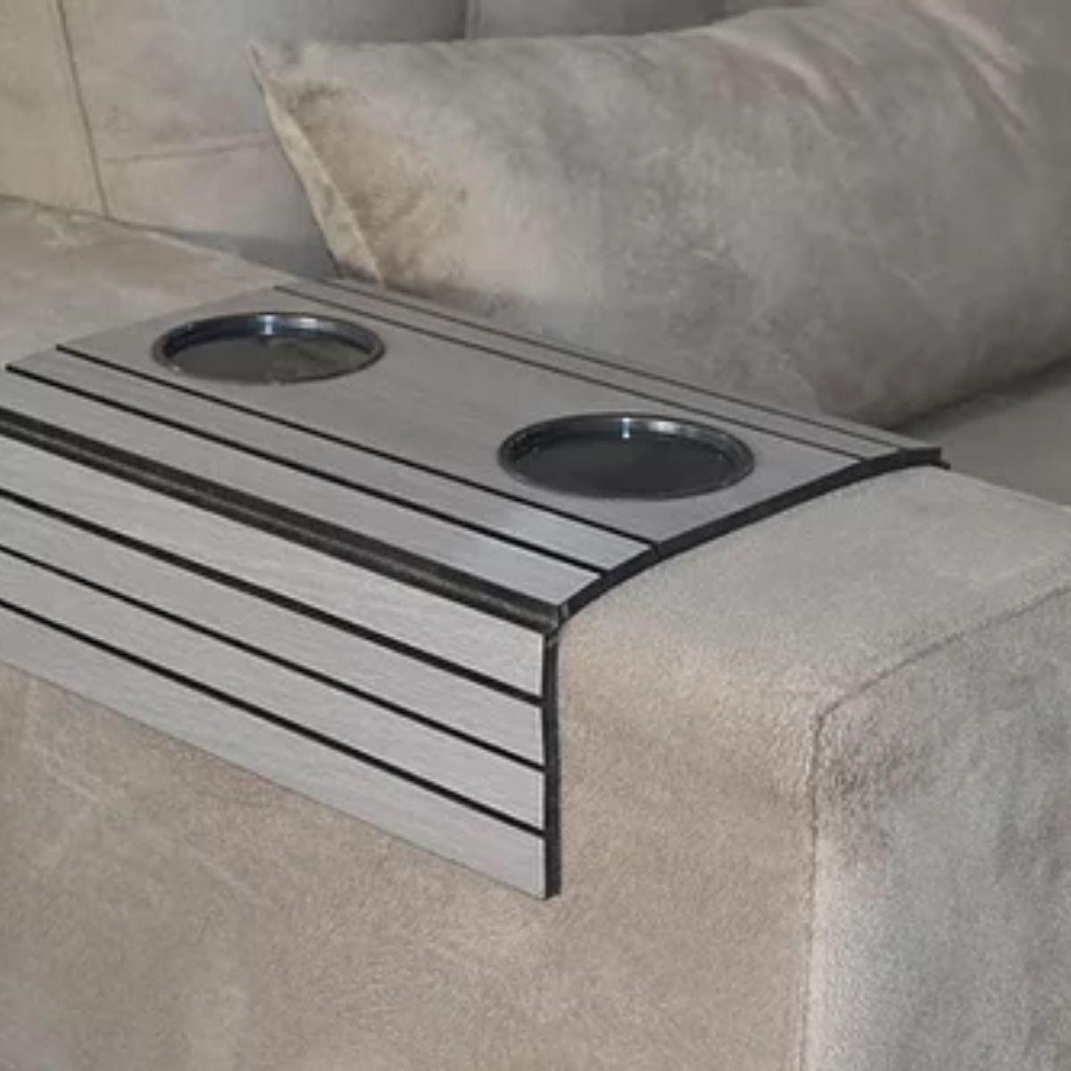 Esteira para braço de sofá (Cinza) 6mm