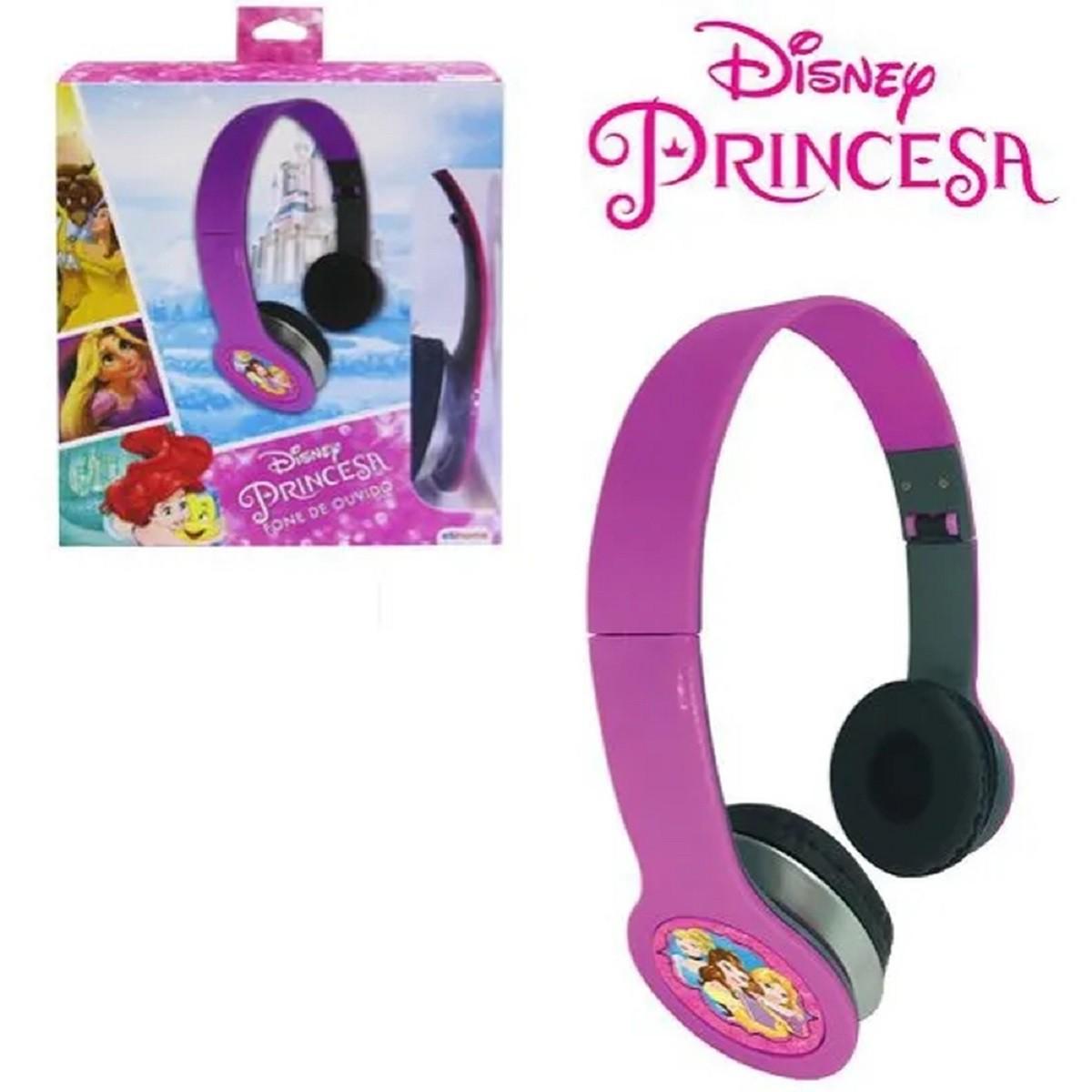 Fone De Ouvido Dobravel Princesas Na Caixa