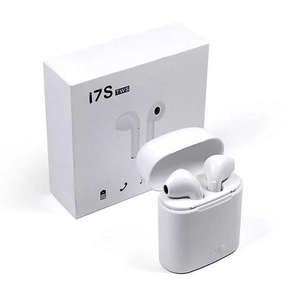 Fone de ouvido sem fio AirPods Branco Iphone Android I7 Tws