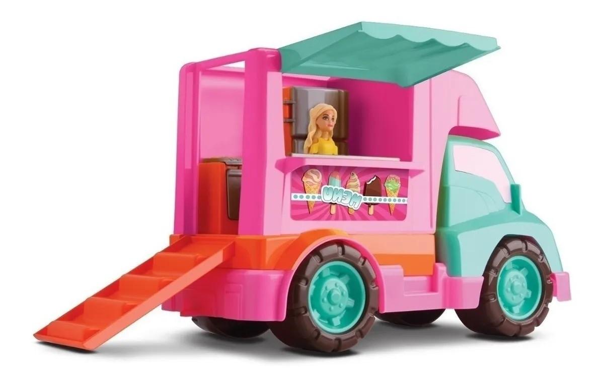 Food Truck Sorveteria JUDY com Rampinha Traseira  Samba Toys