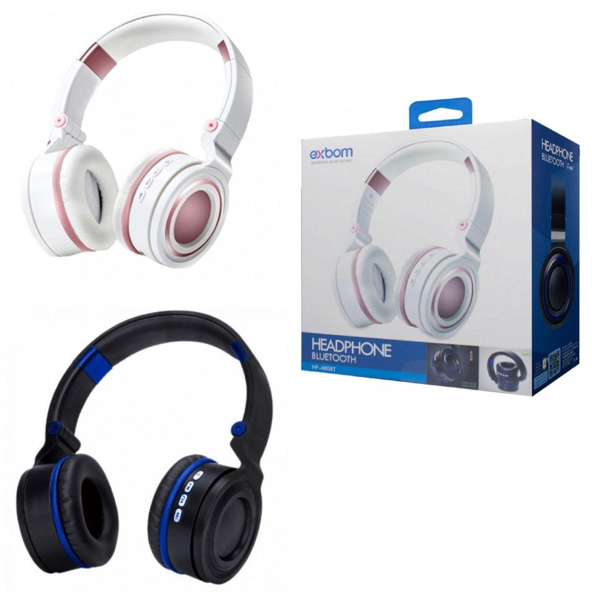 Headphone Dobrável  Com Microfone Wireless Bluetooth Exbom