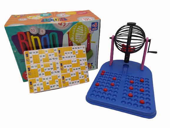 Jogo Bingo Zelar 48 Cartelas 90 Bolinhas Adultos e Crianças