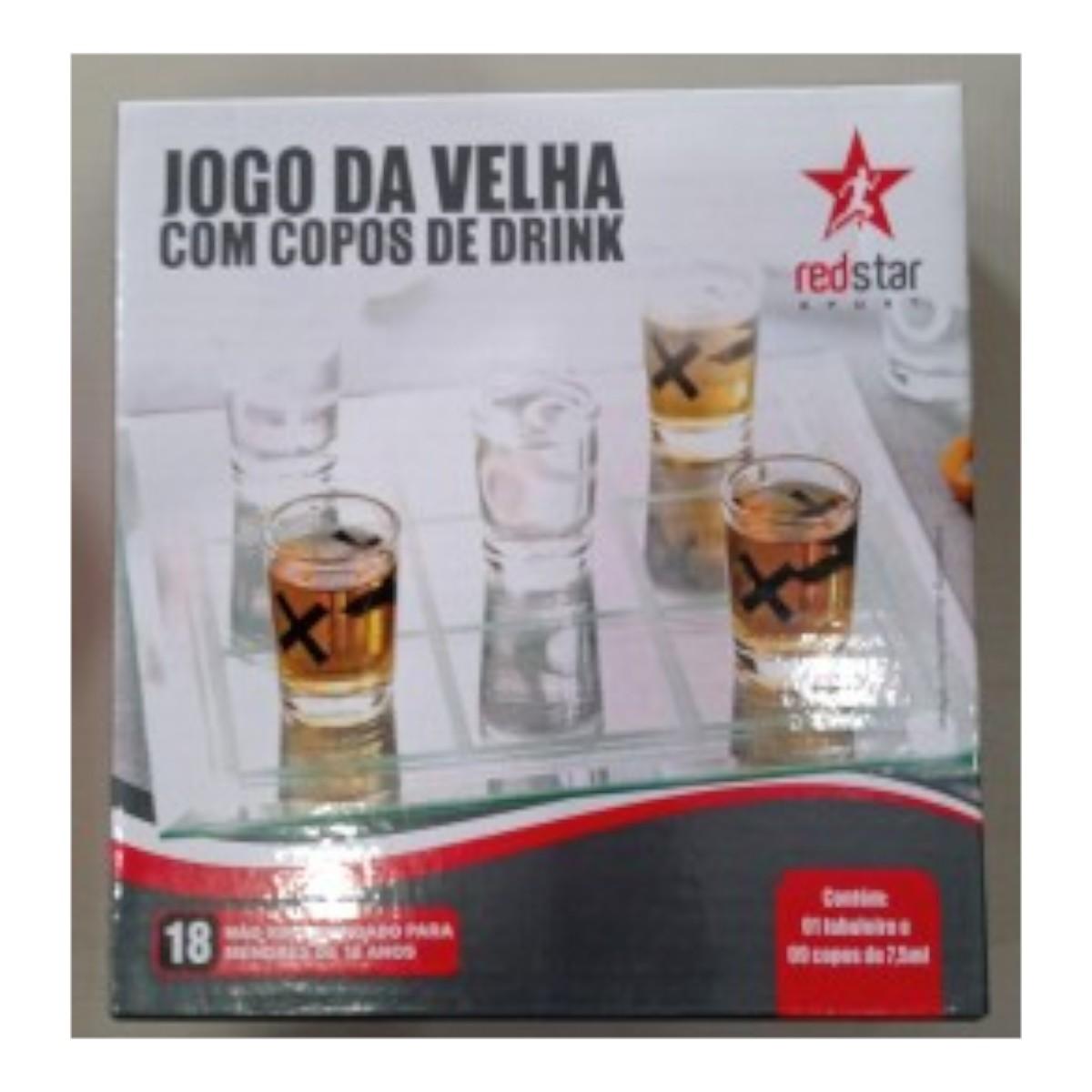 JOGO DA VELHA COM COPOS DE DRINK