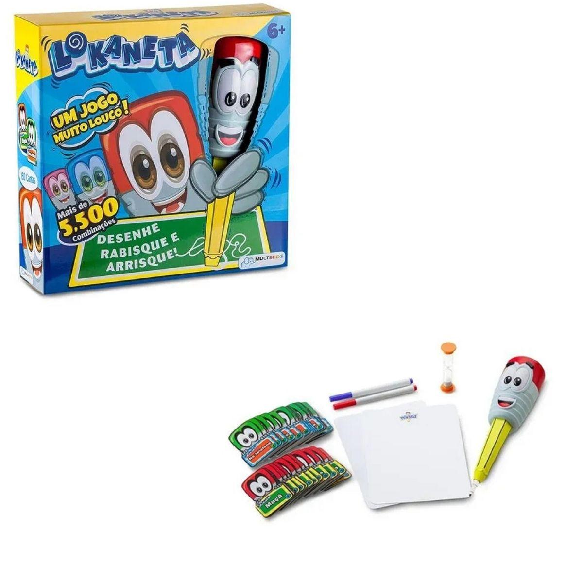 Brinquedo Infantil Lokaneta Jogos de Cartas Multikids