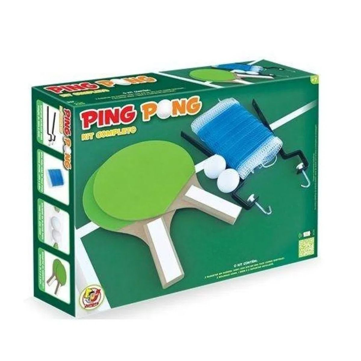 Kit 2 Raquete Tenis De Mesa Ping Pong