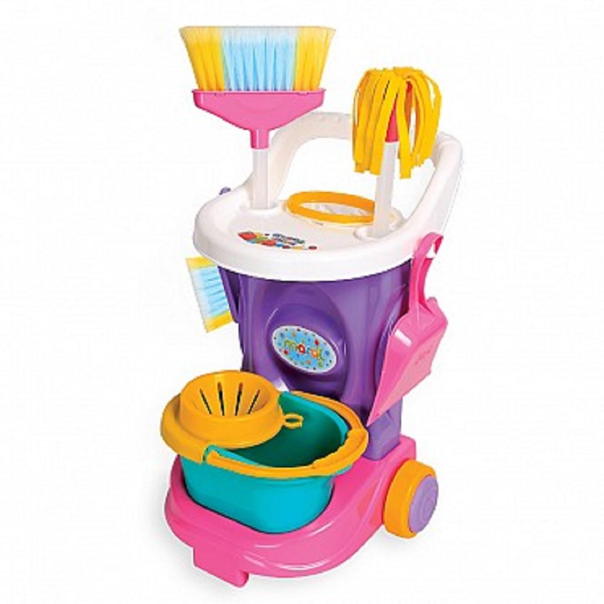Kit De Limpeza Carrinho Infantil Brinquedo Cleaning Trolley