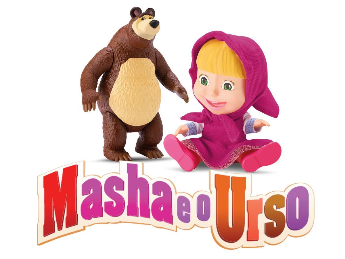 Lançamento Boneca Masha e Urso Vinil Macio Original Lencinho