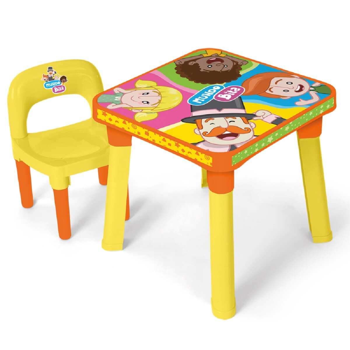Mesinha Infantil Com Cadeira e Acessórios MUNDO BITA 0140