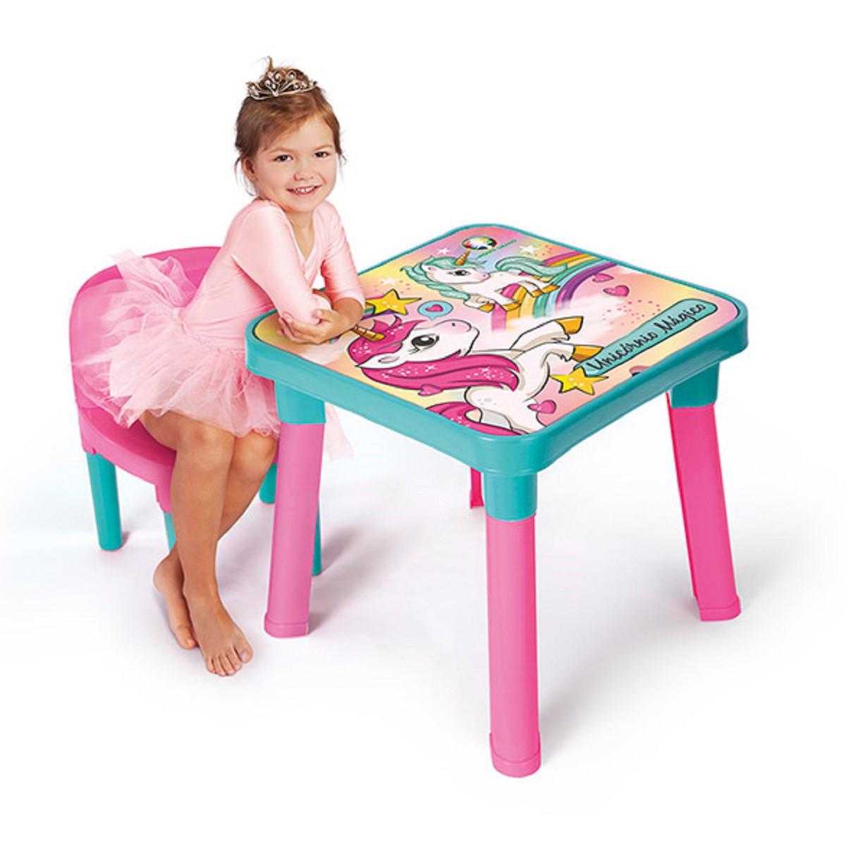 Mesinha Infantil Com Cadeira e Acessórios UNICÓRNIO MI5070