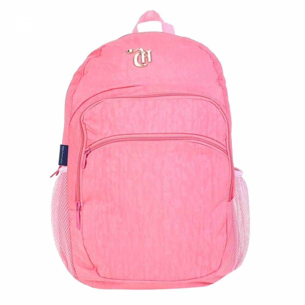 Mochila Escolar Costas Capricho Crinkle Pink DMW
