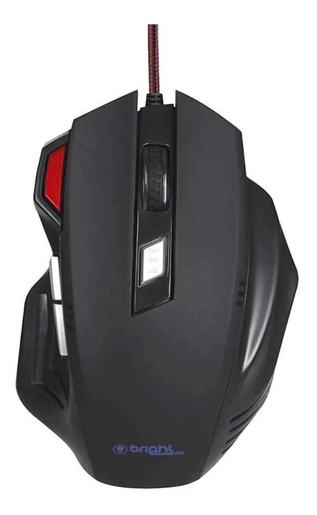 Mouse Gamer Pro 7 Botões LED Conexão USB Bright