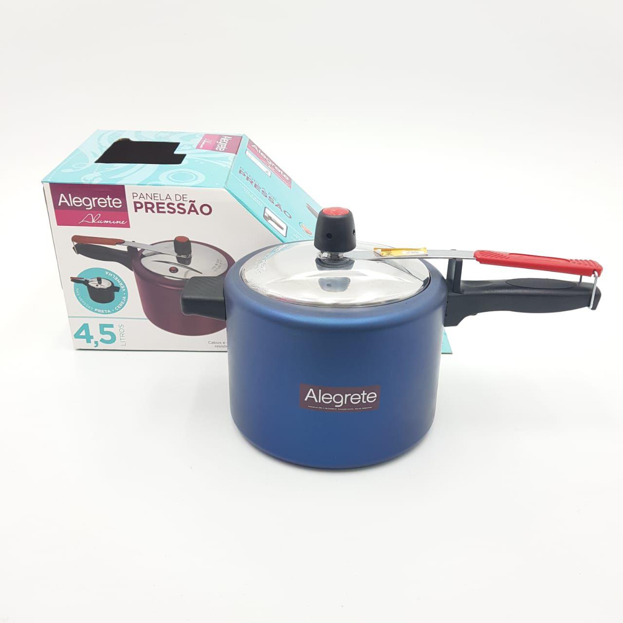 Panela Pressão Antiaderente 4,5 Alegrete Azul Alumine