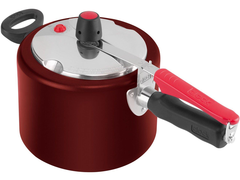 Panela Pressão Clock 4,5 Vermelha + Concha Limitada
