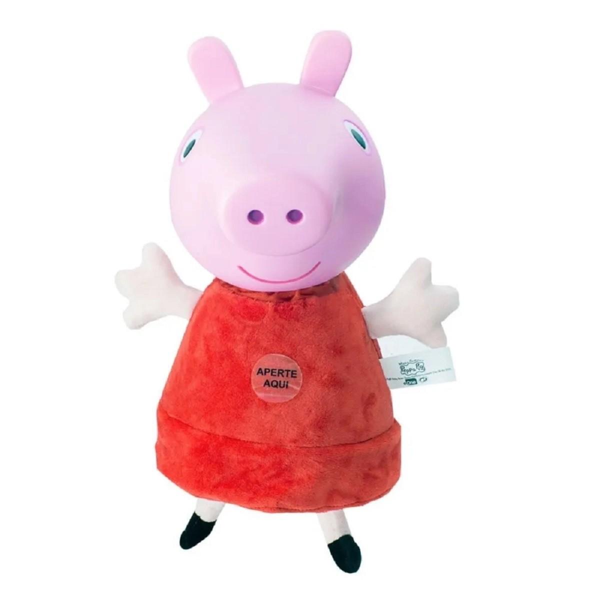 Pelucia Minha Primeira Peppa Pig Agora Com Som Da Estrela