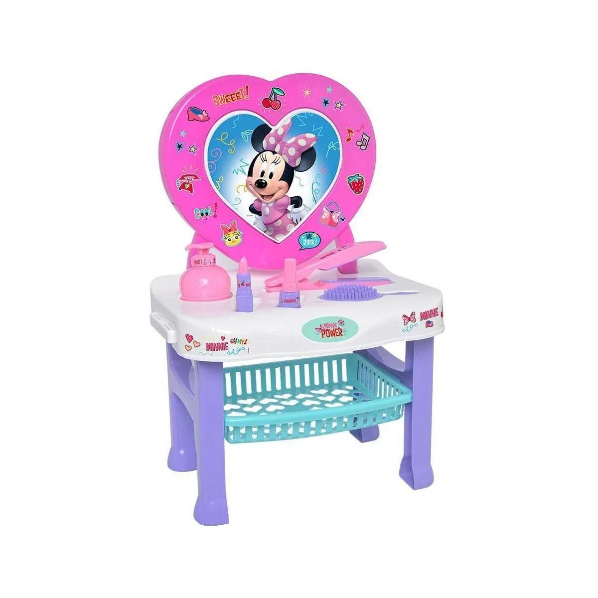 Penteadeira Infantil Minnie Disney Com Acessórios Mielle
