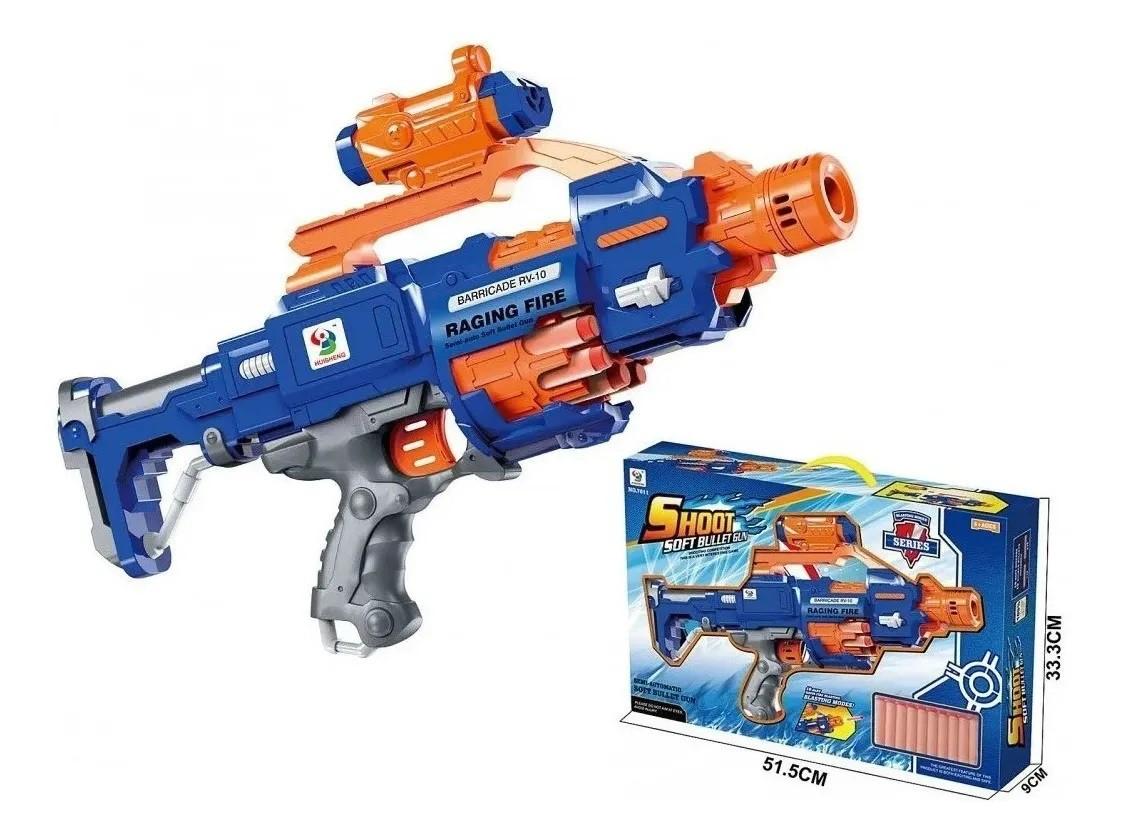 Pistola Lança Dardos Shoot Soft Semi-automática 20 Dardos