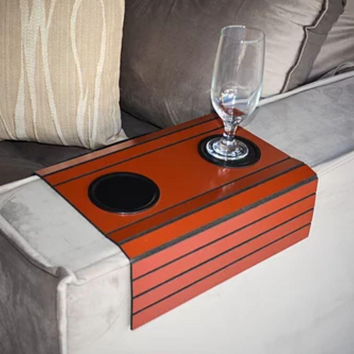 Esteira para Braço de sofá ( Vermelho) 3mm