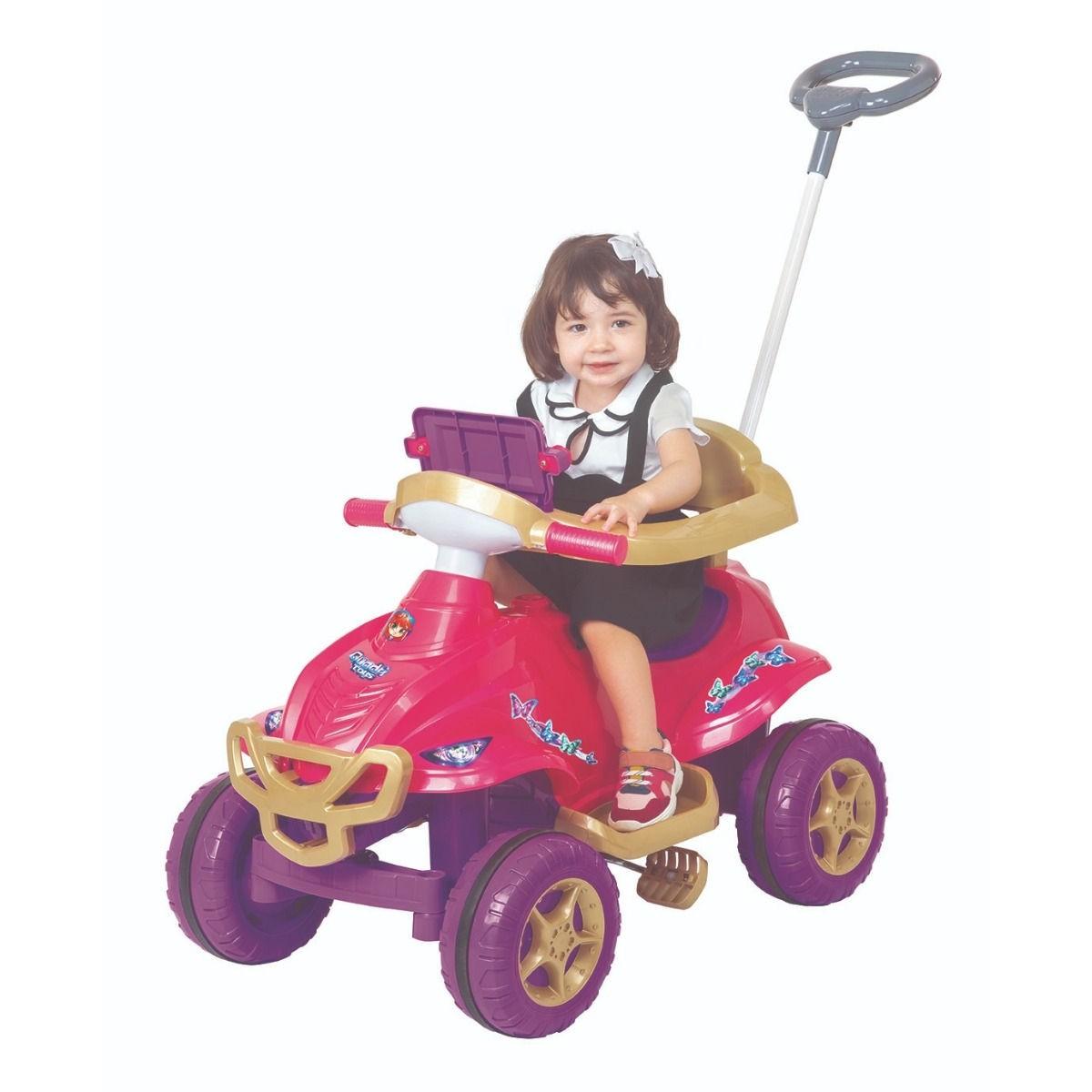 Quadriciclo Pedal C/ Som Luz Carrinho Passeio Princesas