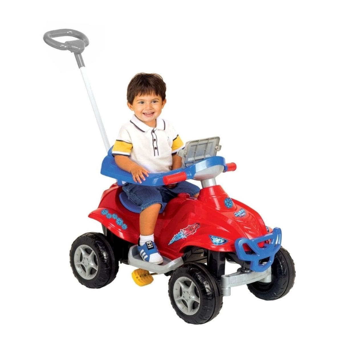 Quadriciclo Pedal C/ Som Luz Carrinho Passeio Spider Toys