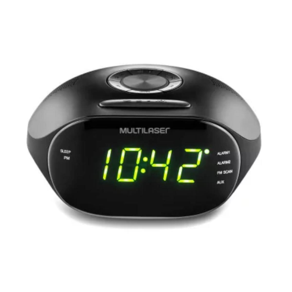 Radio Relógio Digital Alarme Despertador  Multilaser