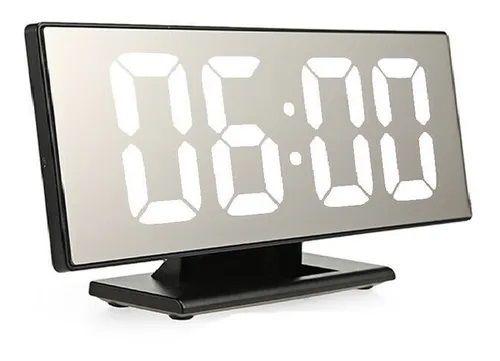 Relógio De Mesa Led Digital Alarme Despertador Espelhado