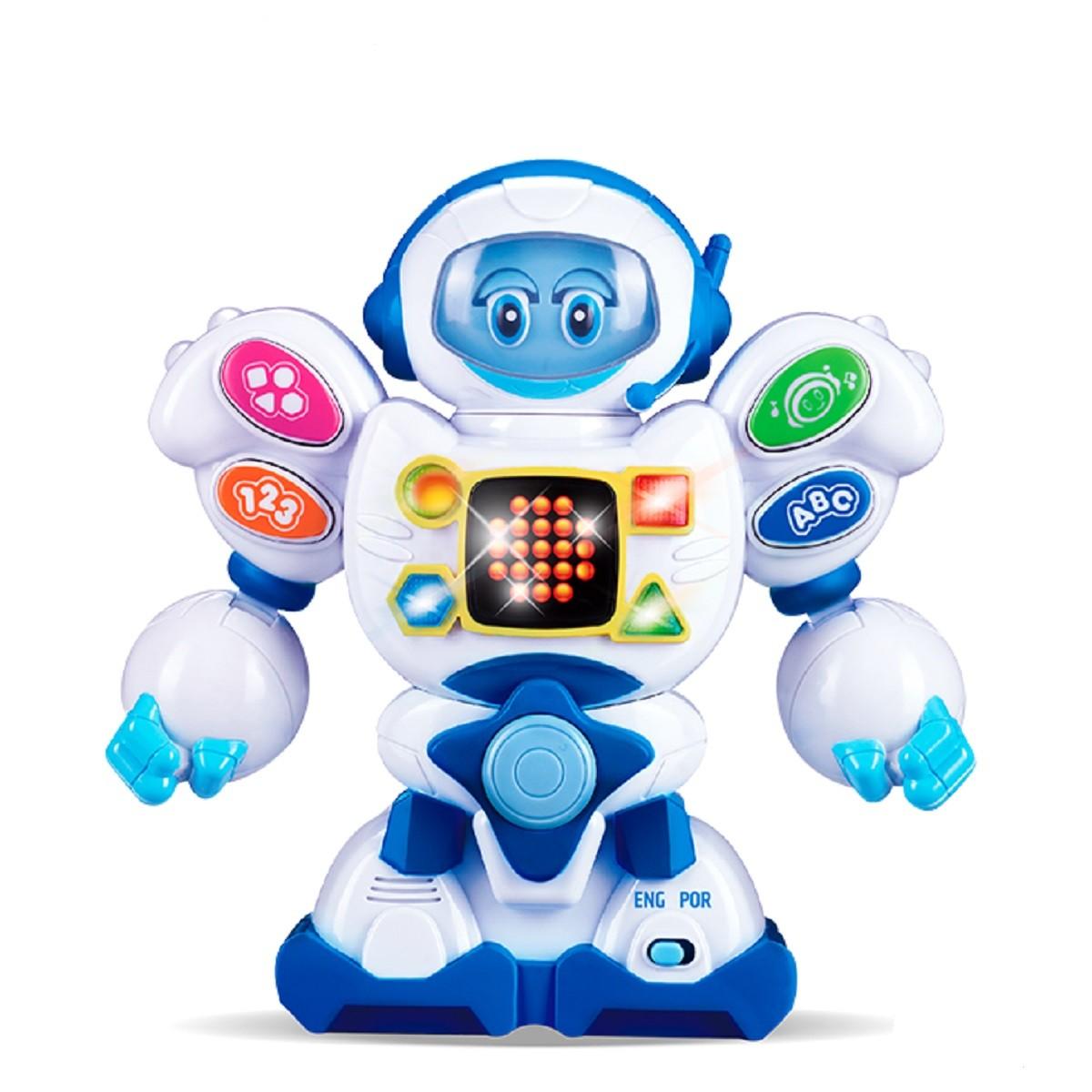 Brinquedo Infantil Amigo Robô Bilíngue Português e Inglês