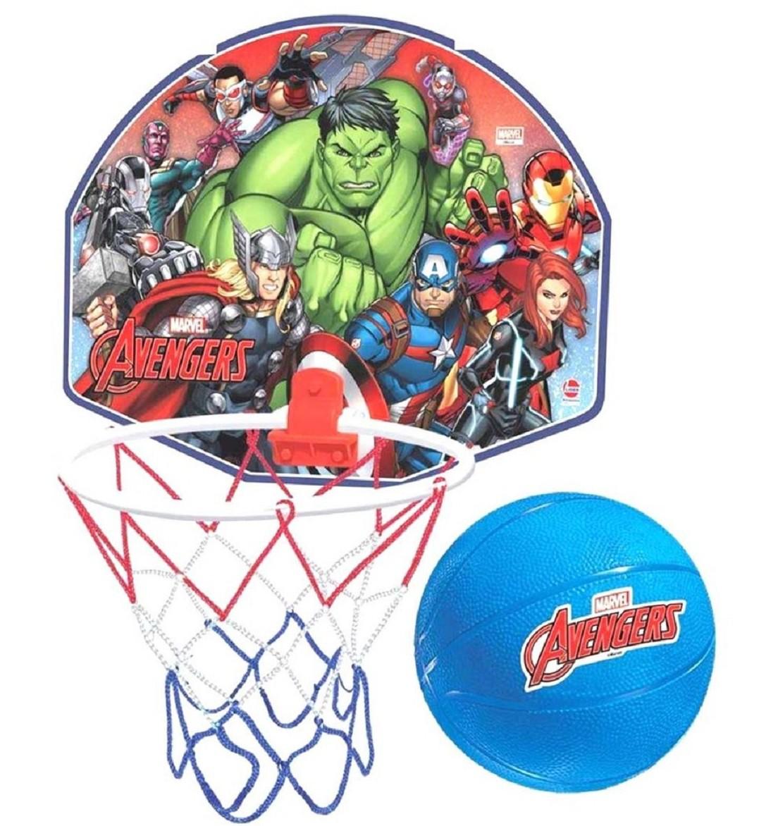 Tabela De Basquete Avengers Com Aro Com Rede e Bola - Lider