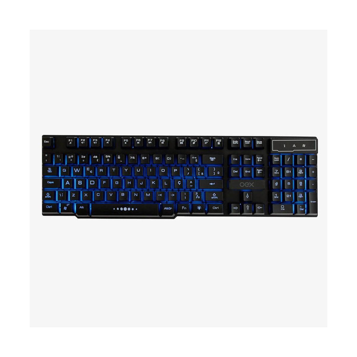Teclado Oex Game Force-x Com LED Blacklight 3 Cores TC 201