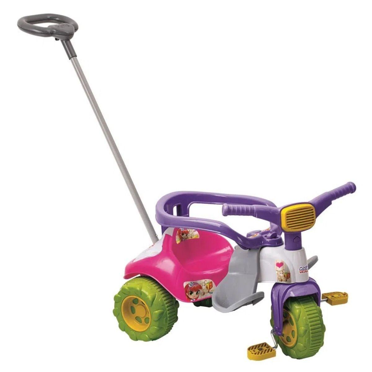 Tico Tico Zoom Meg Triciclo Infantil Com Aro Magic Toys
