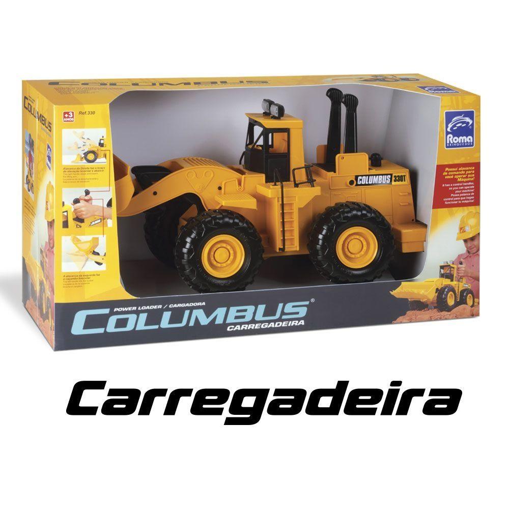 Trator De Brinquedo Infantil Carregadeira Columbus  Roma Brinquedos