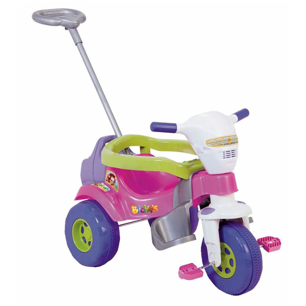 Triciclo Tico Tico Bichos Com Som E Luzes Magic Toys