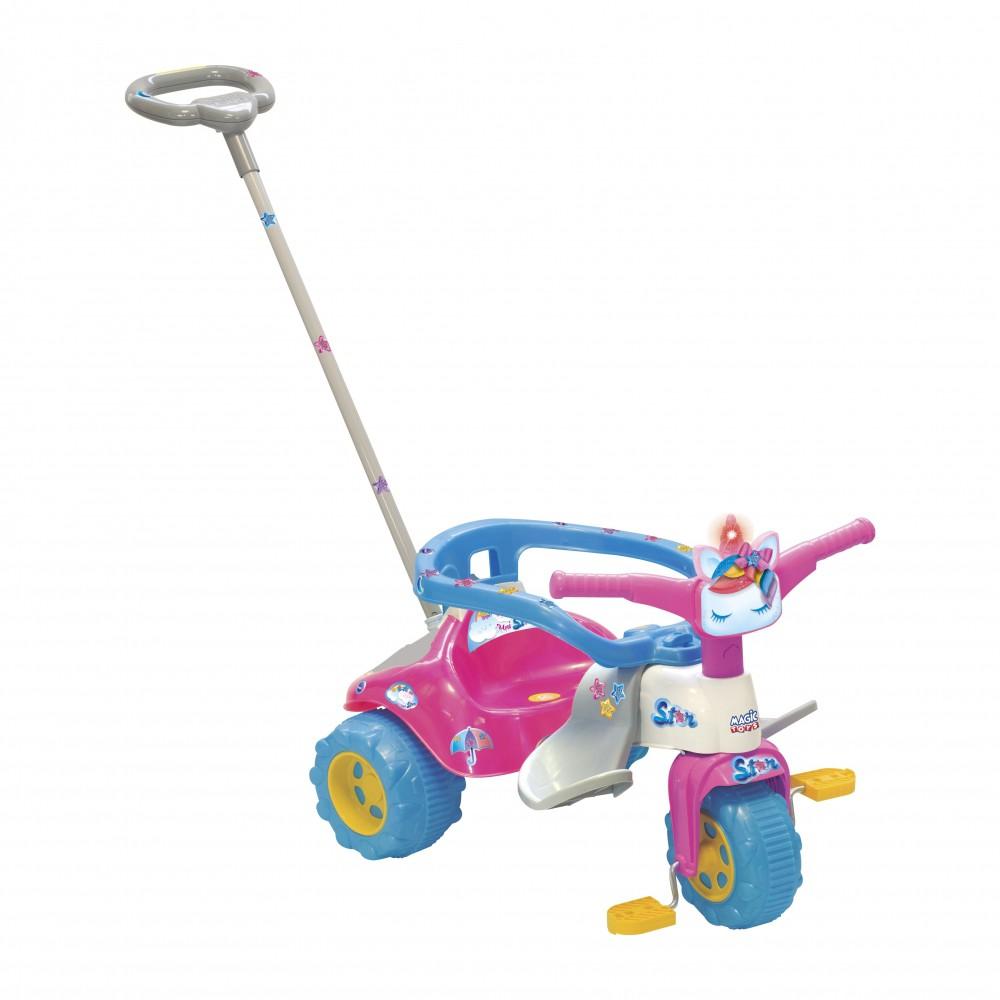 Triciclo Tico Tico Uni Star Com Luz e Aro Magic Toys  2730