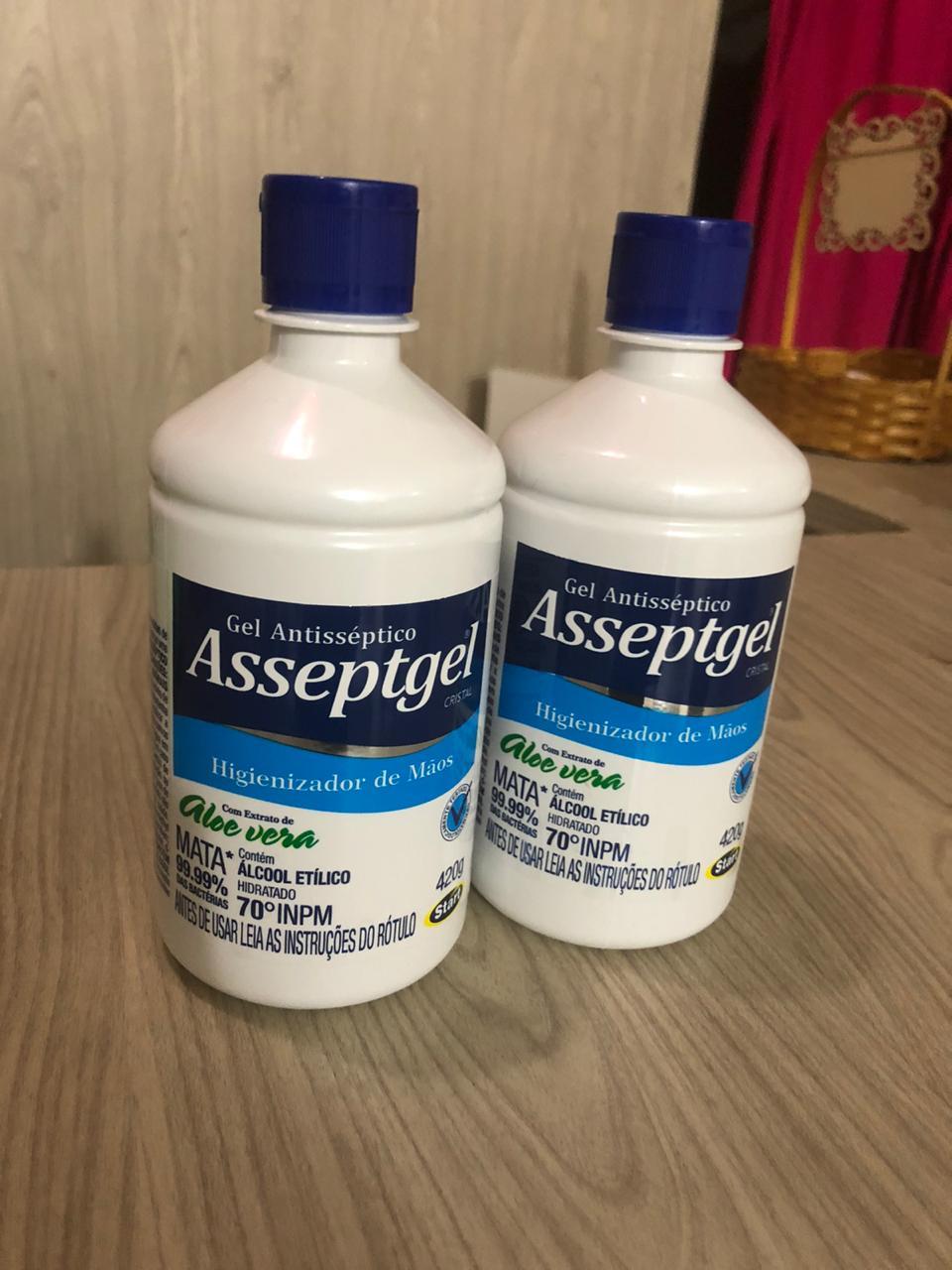 Asseptgel alcool em gel 70% higienizador para as mãos