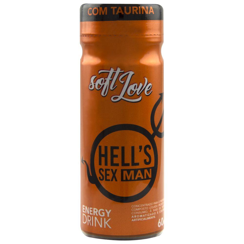 Bebida Afrodisiaca Energetico 60ml - Hells Sex Man