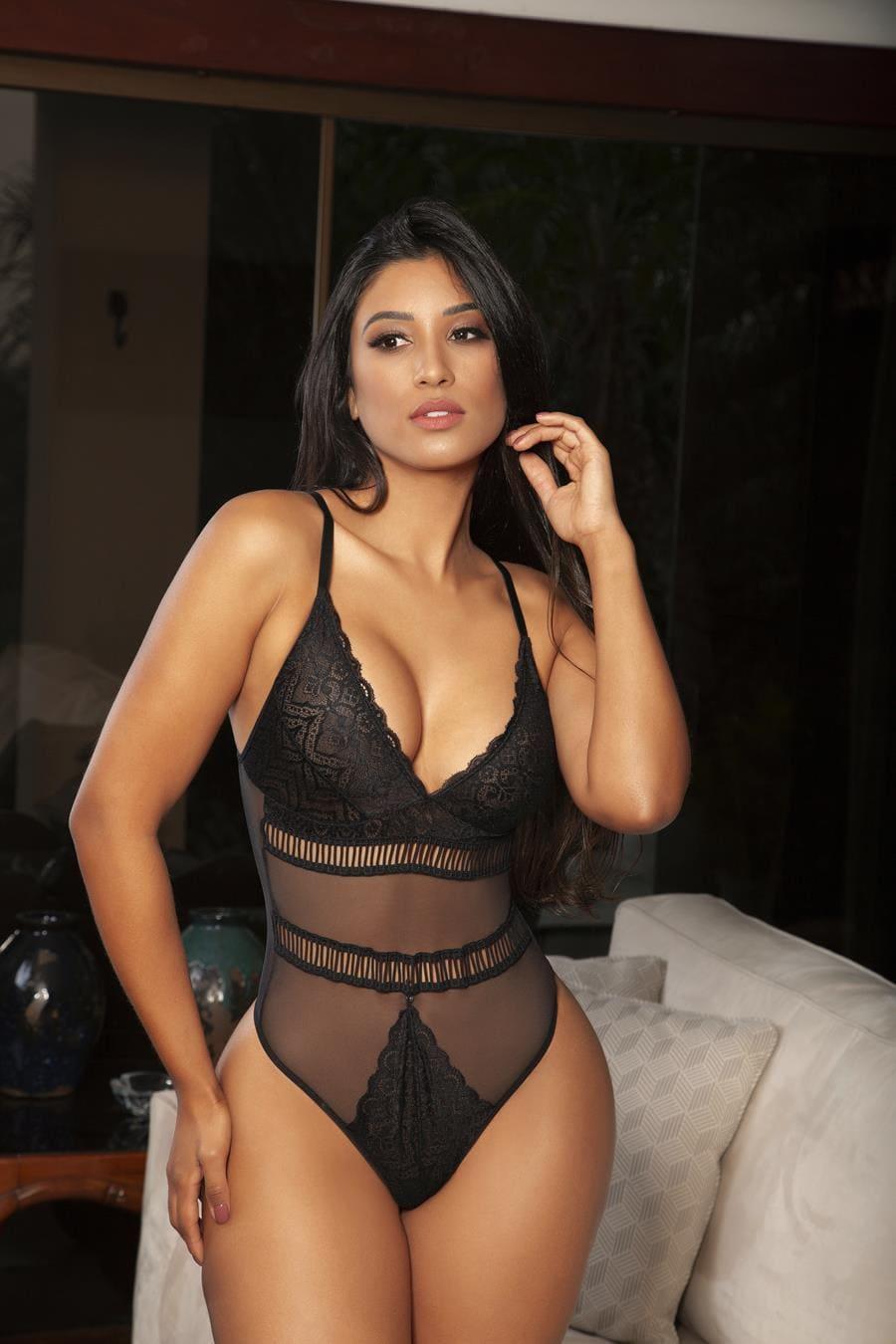 Body Sofisticado com tule e transparencia