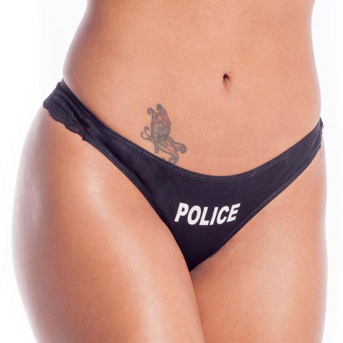 Calcinha Fio Policial