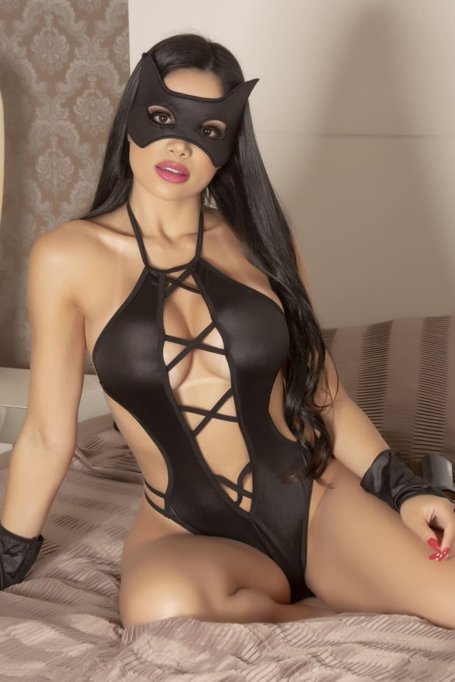 Fantasia mulher aranha - BODY,LUVAS E MASCARA
