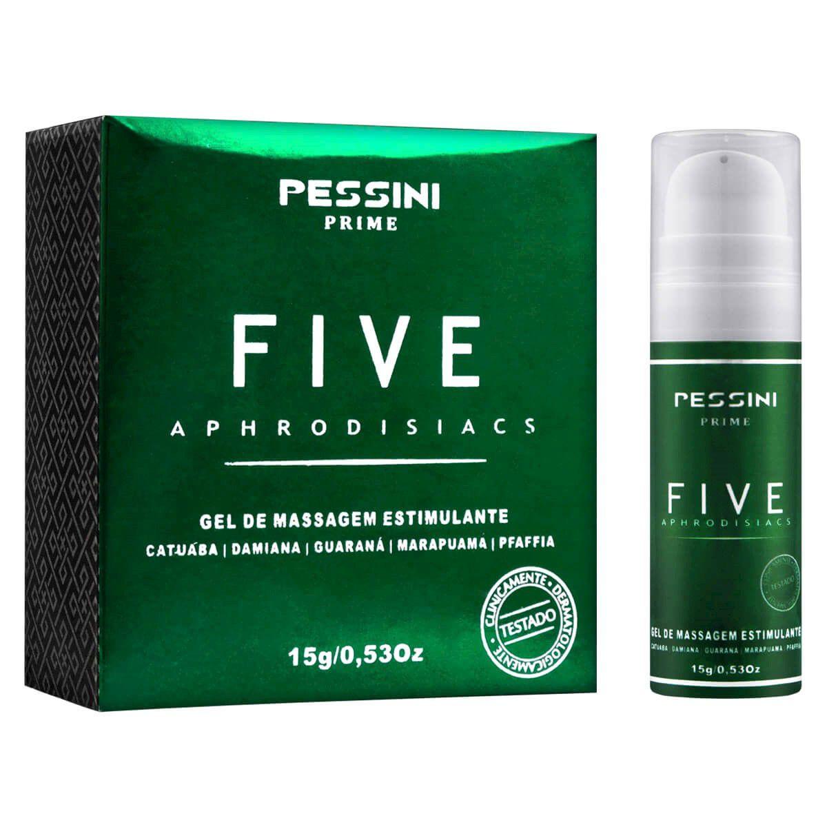 Five Aphrodisiacs Gel excitante estimulante
