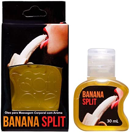 Gel beijável 30ML Sabor: Banana Split; Térmico: Hot