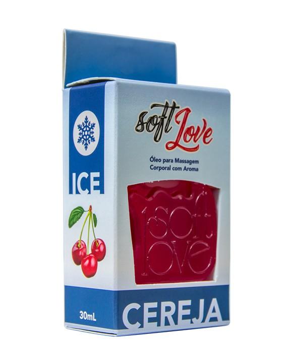 Gel beijável 30ml Sabor: Cereja;  Térmico: ICE