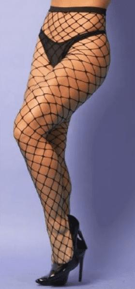 Meia calça arrastão trama larga
