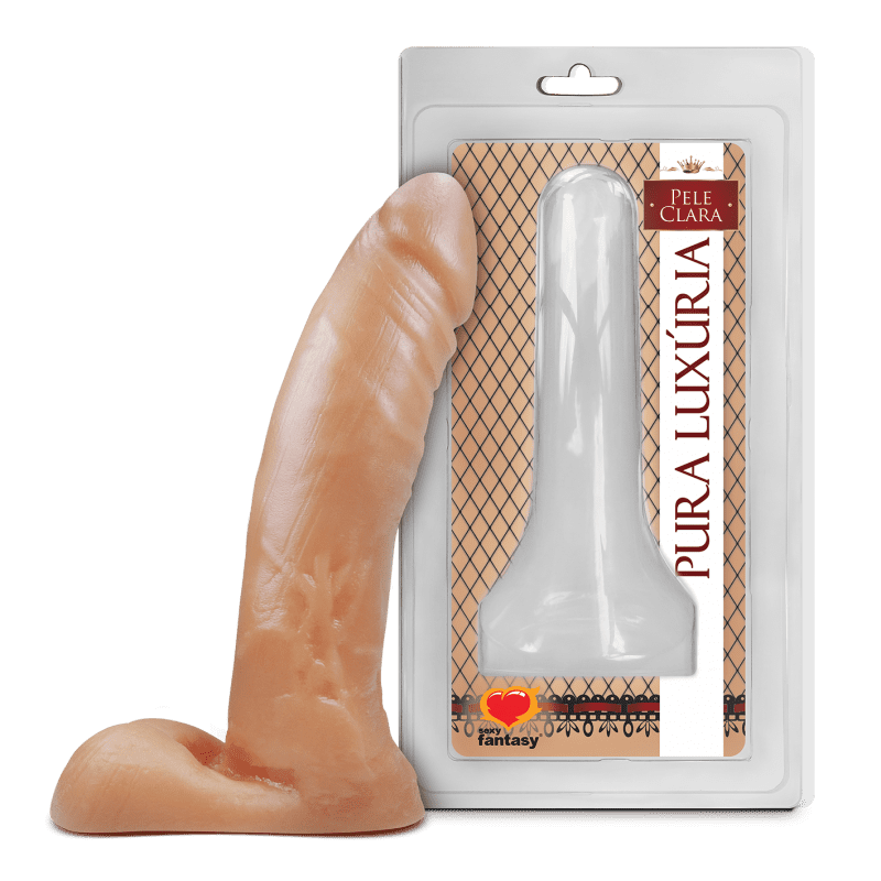 Pênis sem vibro - 12 x 2,7 cm - Pele