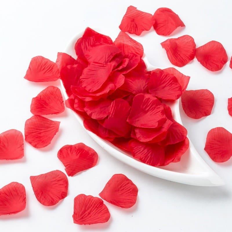 Pétalas de rosas sintéticas 100 unidades