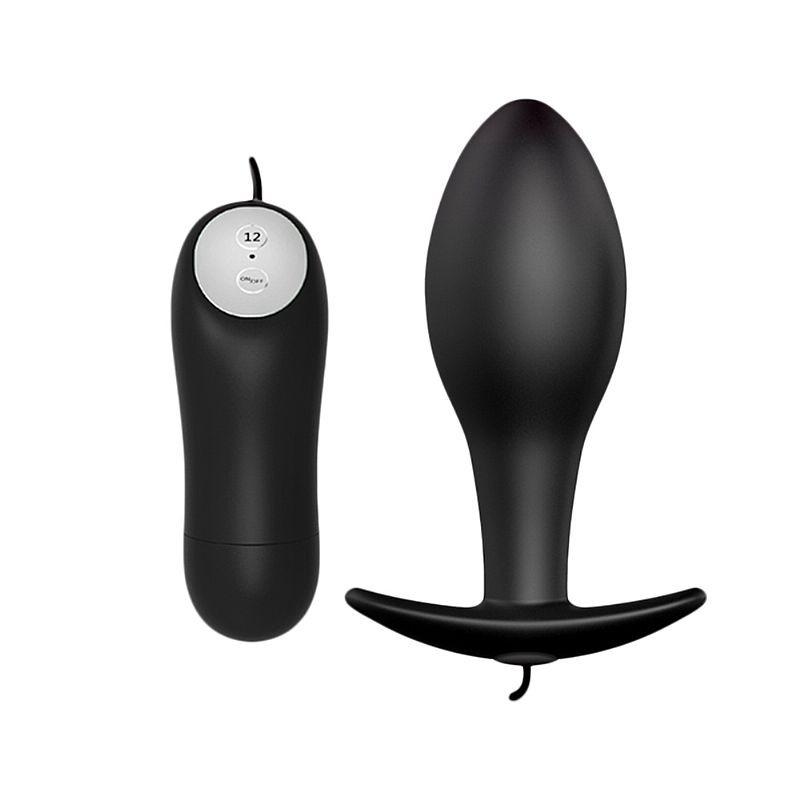 Plug anal com vibro - 12 velocidades